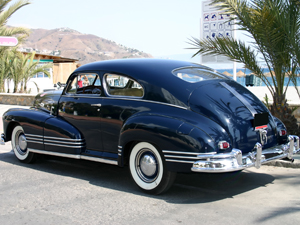 1947 ink blue family car