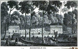 1838 - Rochester in 1812 (showing first 'hotel') - Sketches of Rochester